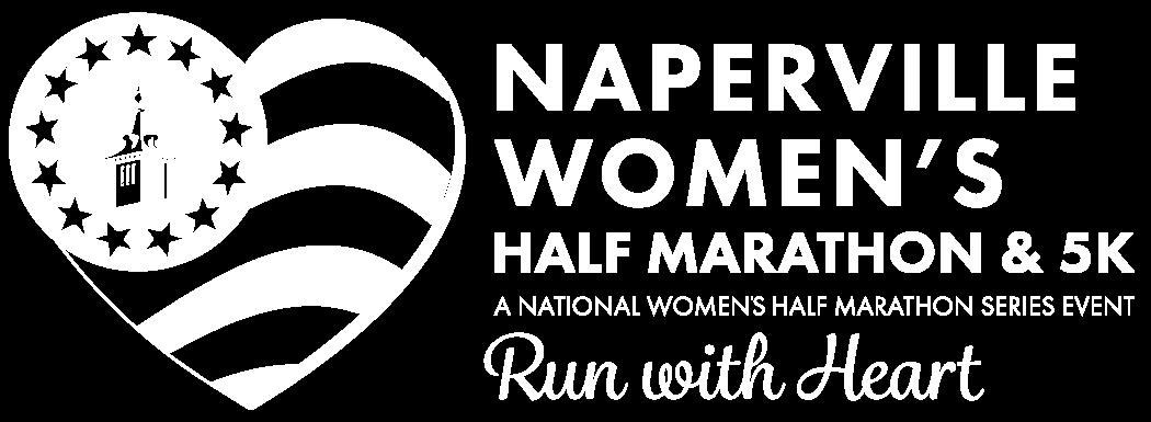 Naperville Women's Half Marathon and 5K Reverse Logo