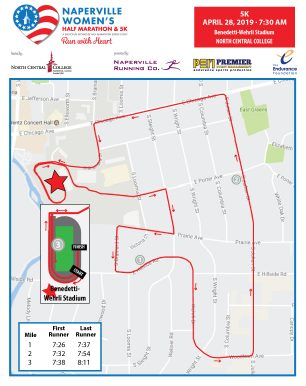 Naperville Women's 5K Course Map