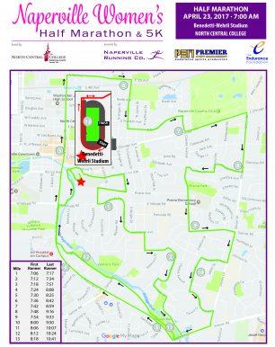 naperville womens half marathon course