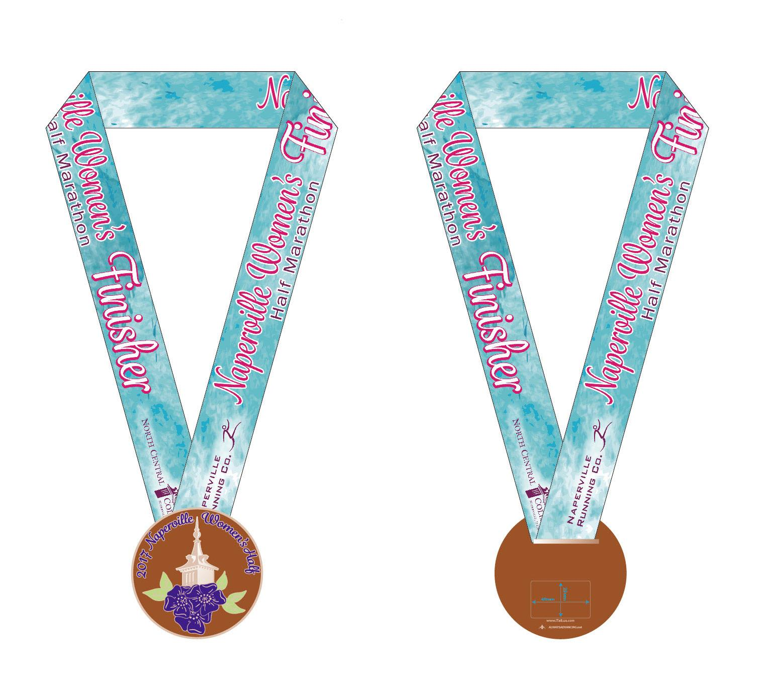 2017 Naperville Women's Half Marathon & 5K Finisher Medals Revealed