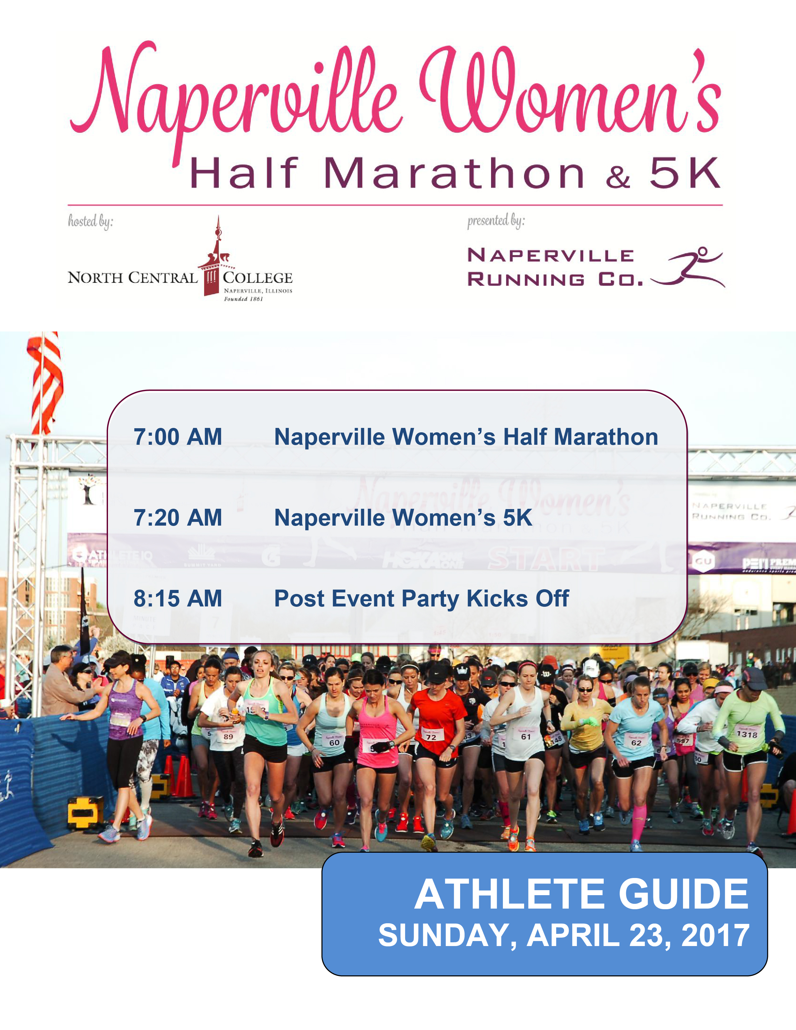 2017 Naperville Women's Half Marathon & 5K Athlete Guide