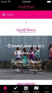 Naperville Women's Half Marathon Mobile App